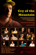 draft of poster for cry of the mountain